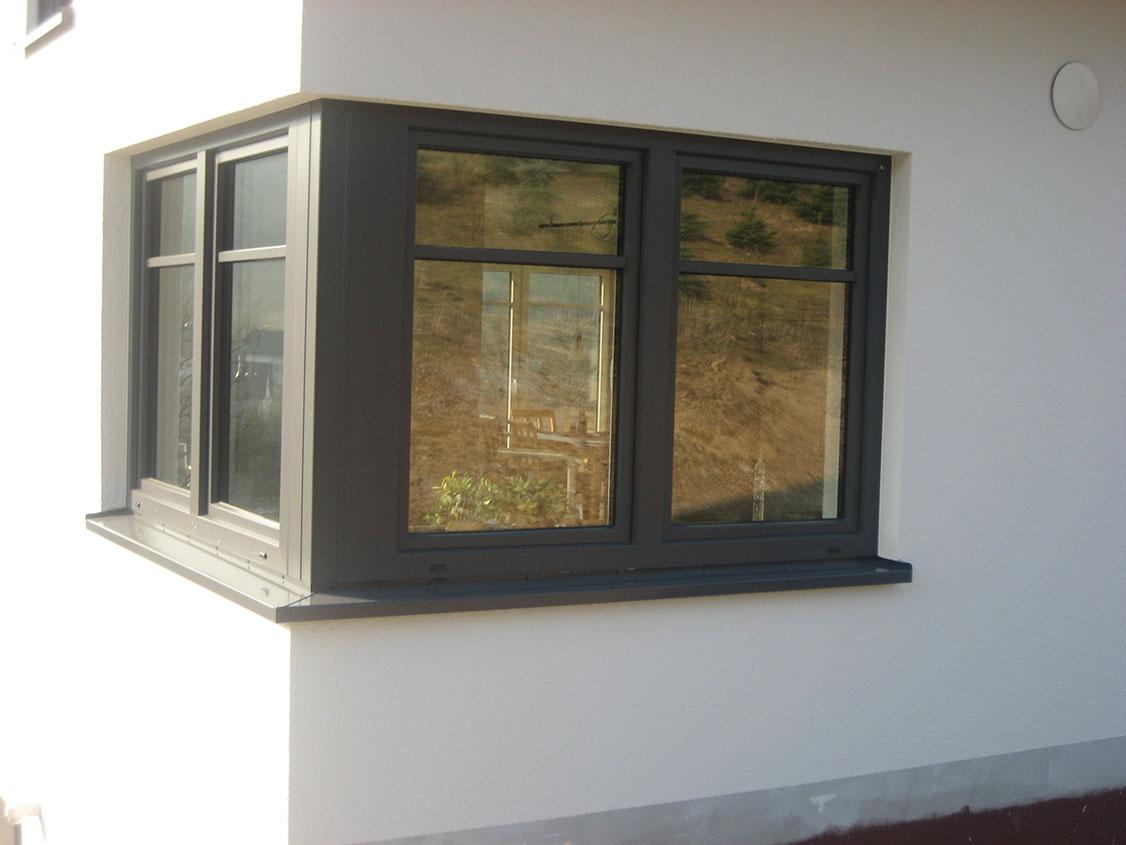 Sprossenfenster anthrazit for Kunststoff fensterrahmen