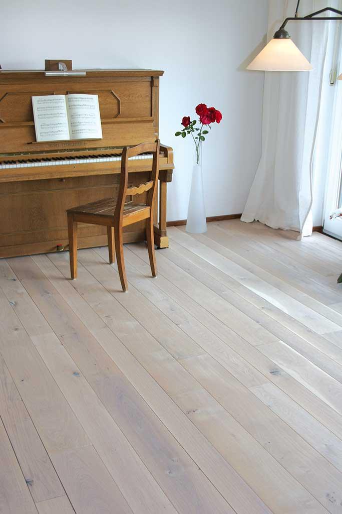 Holzdielen Eiche Weiß Geölt echtholz parkett das sauerland lebt gesund bauen renovieren